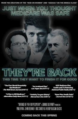 GOP Medicare horror movie poster