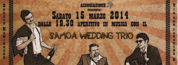 musica a Milano: Samoa Wedding Trio allo Spazio Kamikazen sabato 15 marzo