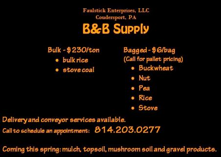 Bulk Rice & Stove Coal By Appointment