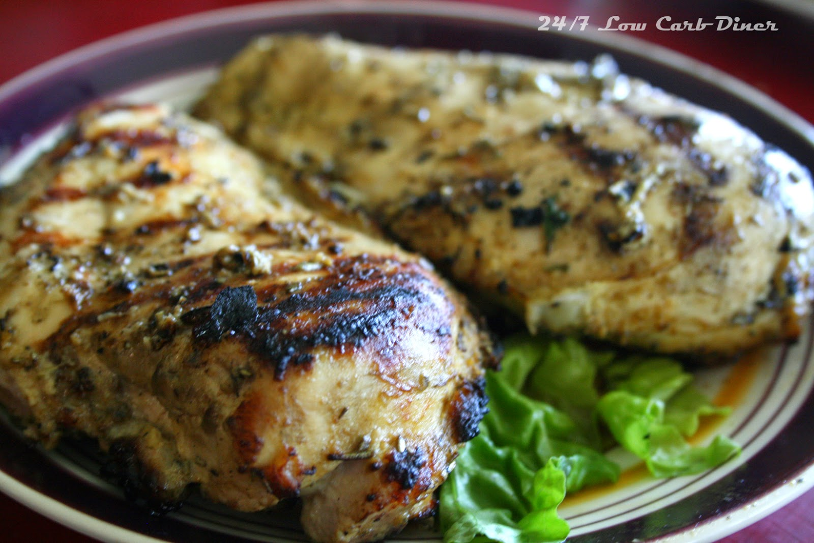 24/7 Low Carb Diner: Rosemary Garlic Mustard Chicken