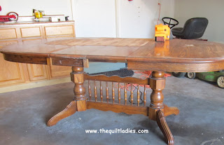 Sanding and Staining a Dining Room Table