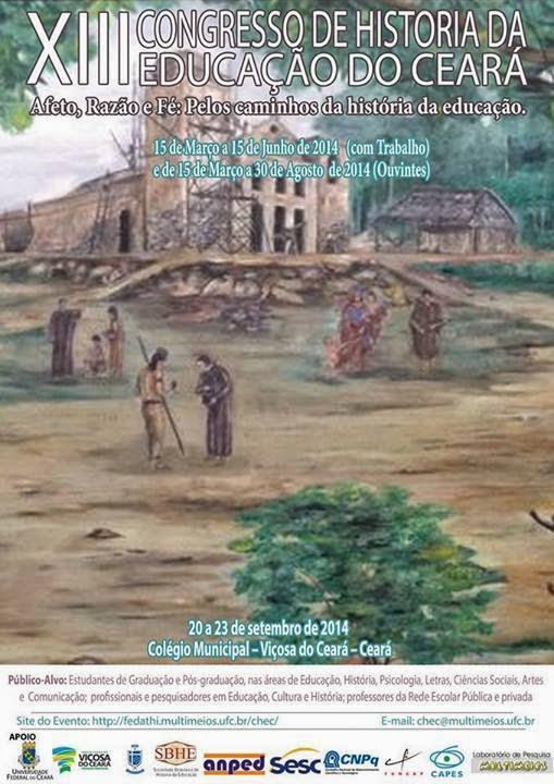XIII CONGRESSO DE HISTÓRIA DA EDUCAÇÃO DO CEARÁ