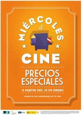 Cartel de la promoción Los Miércoles al Cine