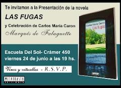 Presentación de la novela LAS FUGAS