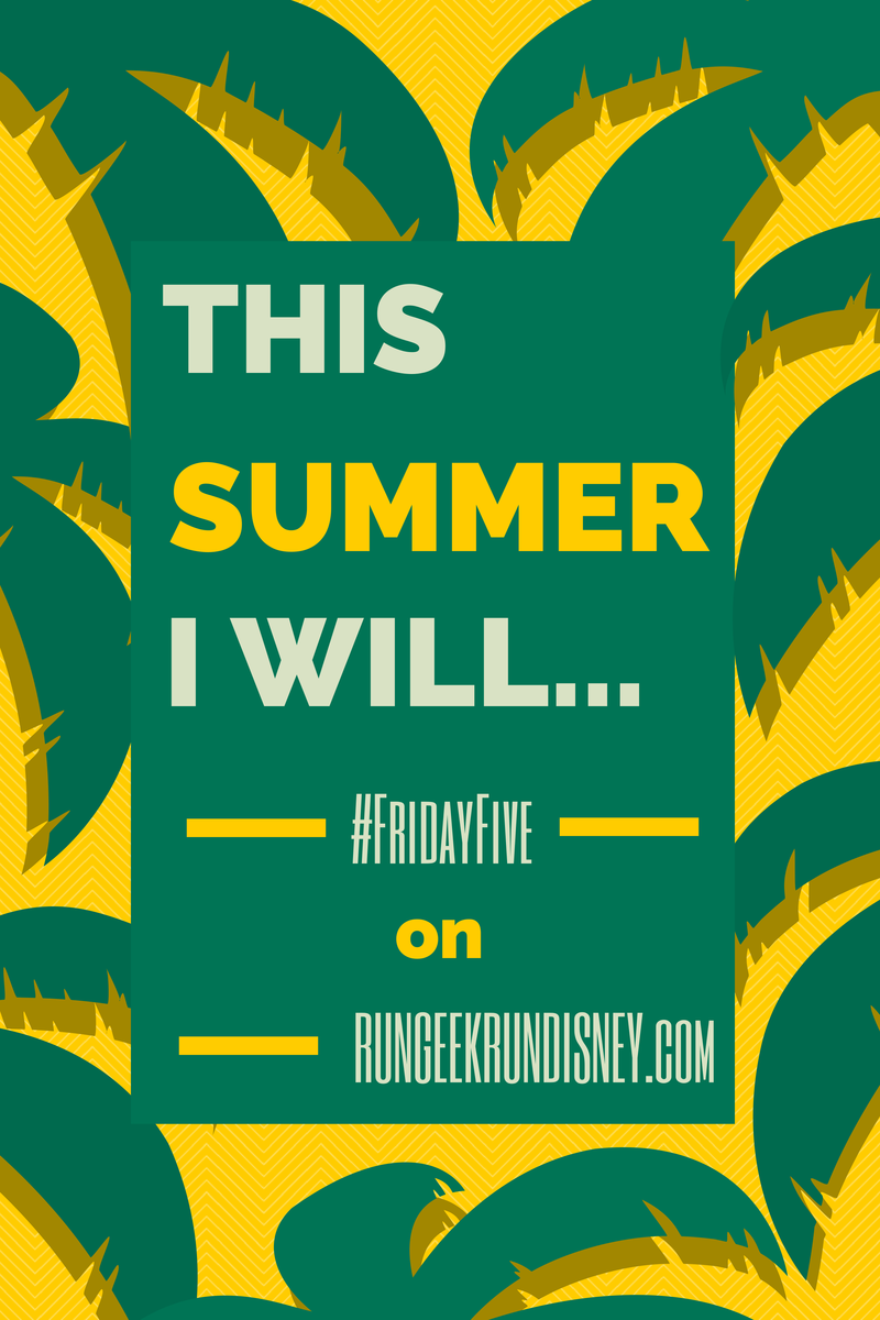 This Summer I Will...