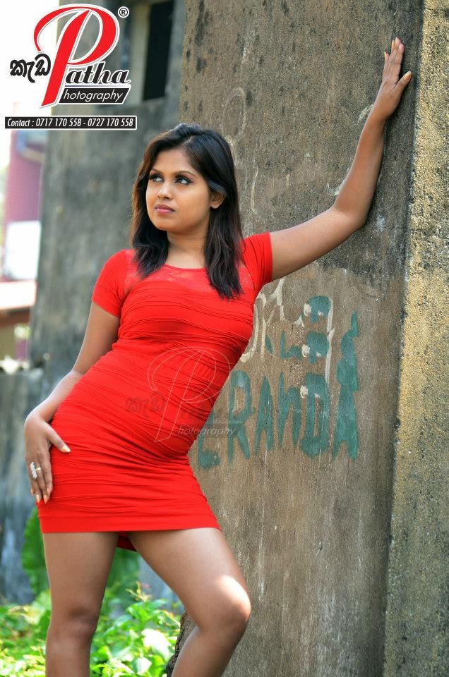 Tharu Arabewaththa red mini dress