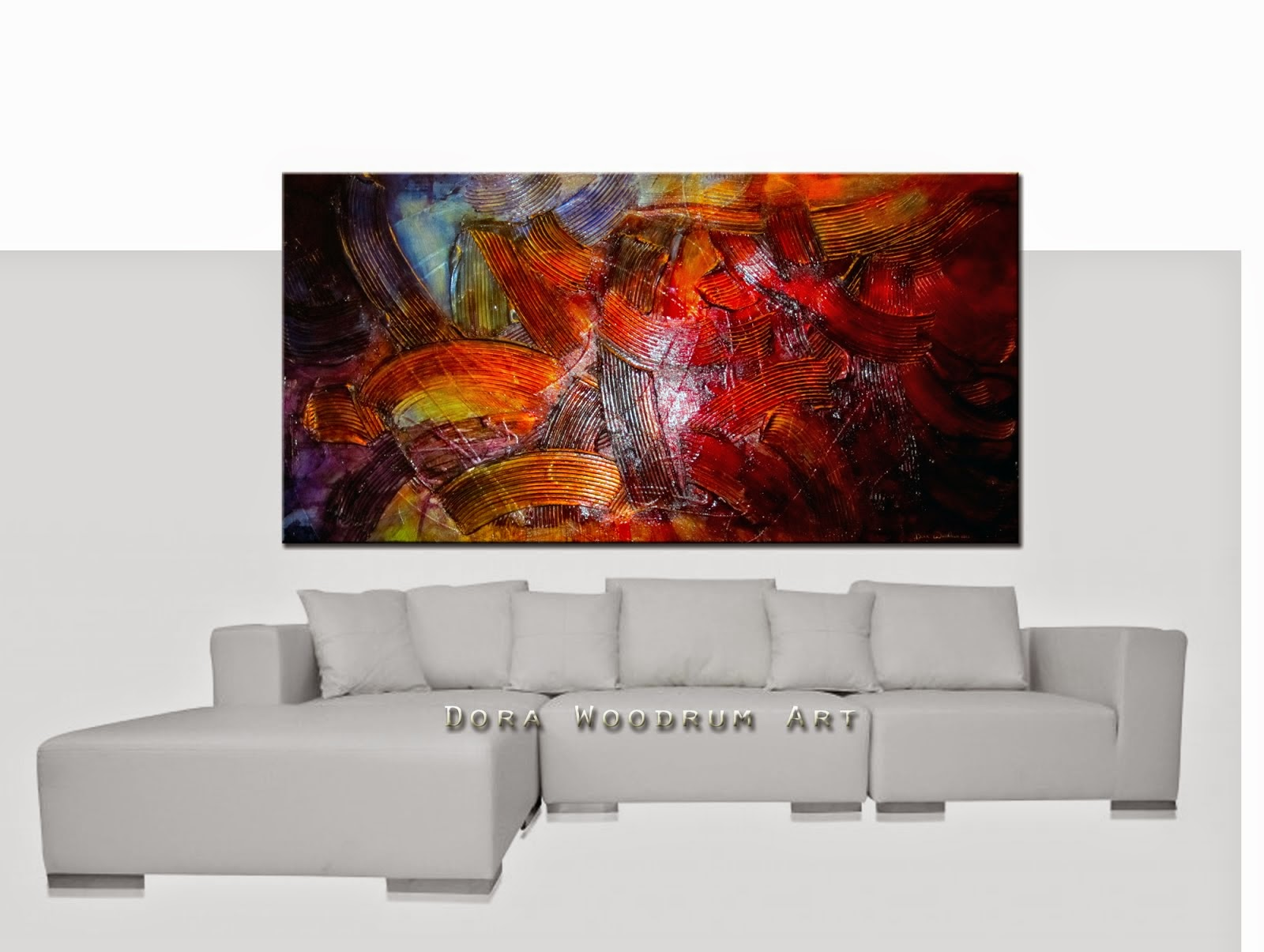 "Abstract Painting ""Fusion "" by Dora Woodrum"