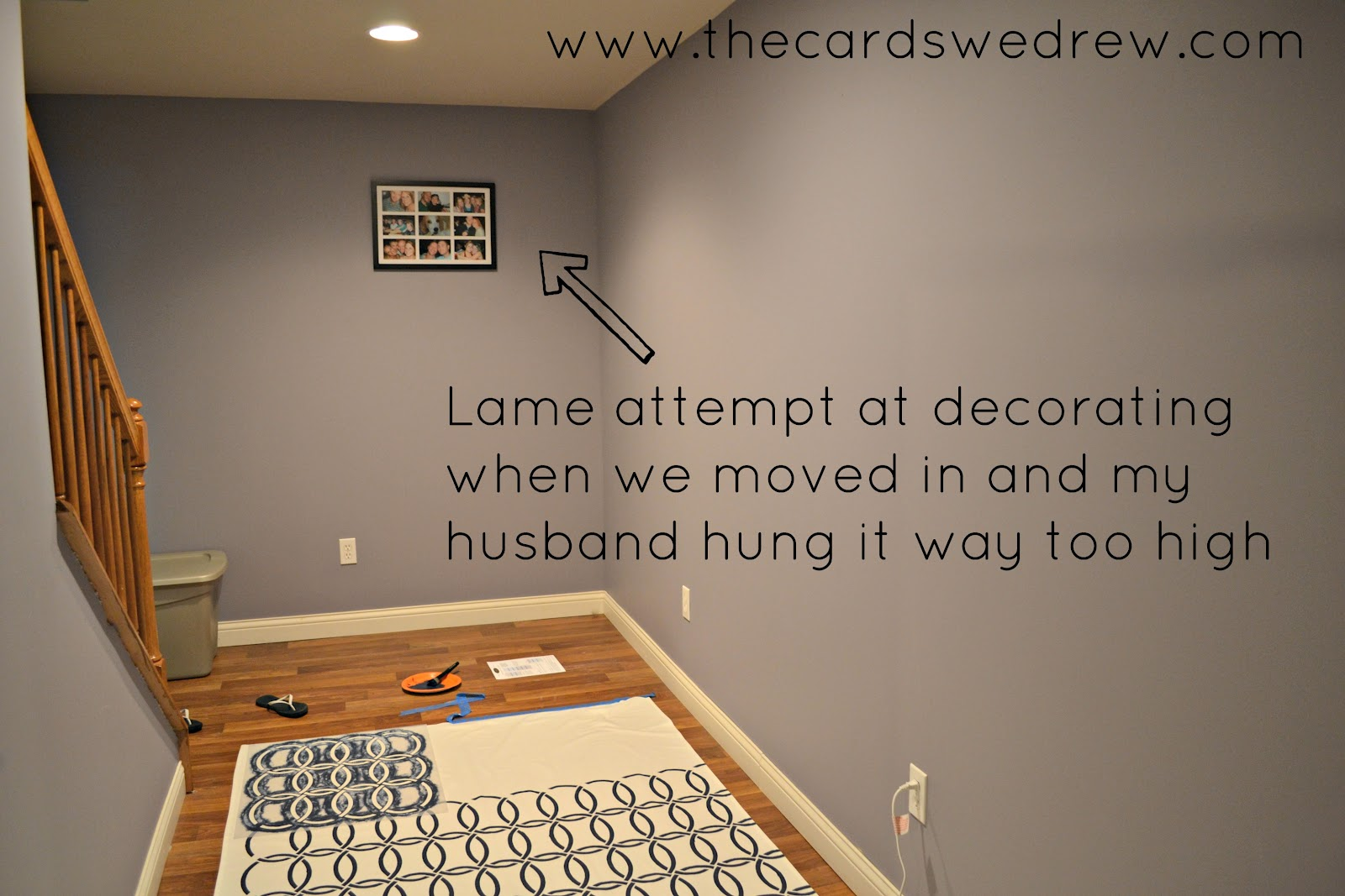 Why my basement needs an EPIC makeover... - The Cards We Drew