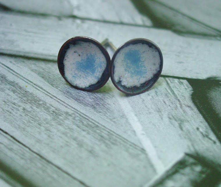 Enamel Post Earrings