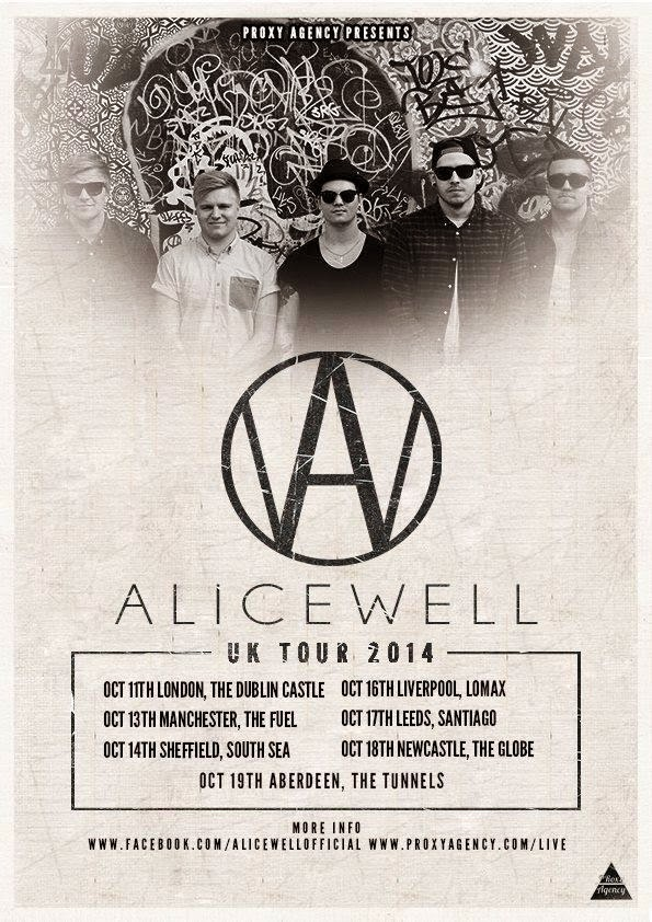 Alicewell UK tour October 2014