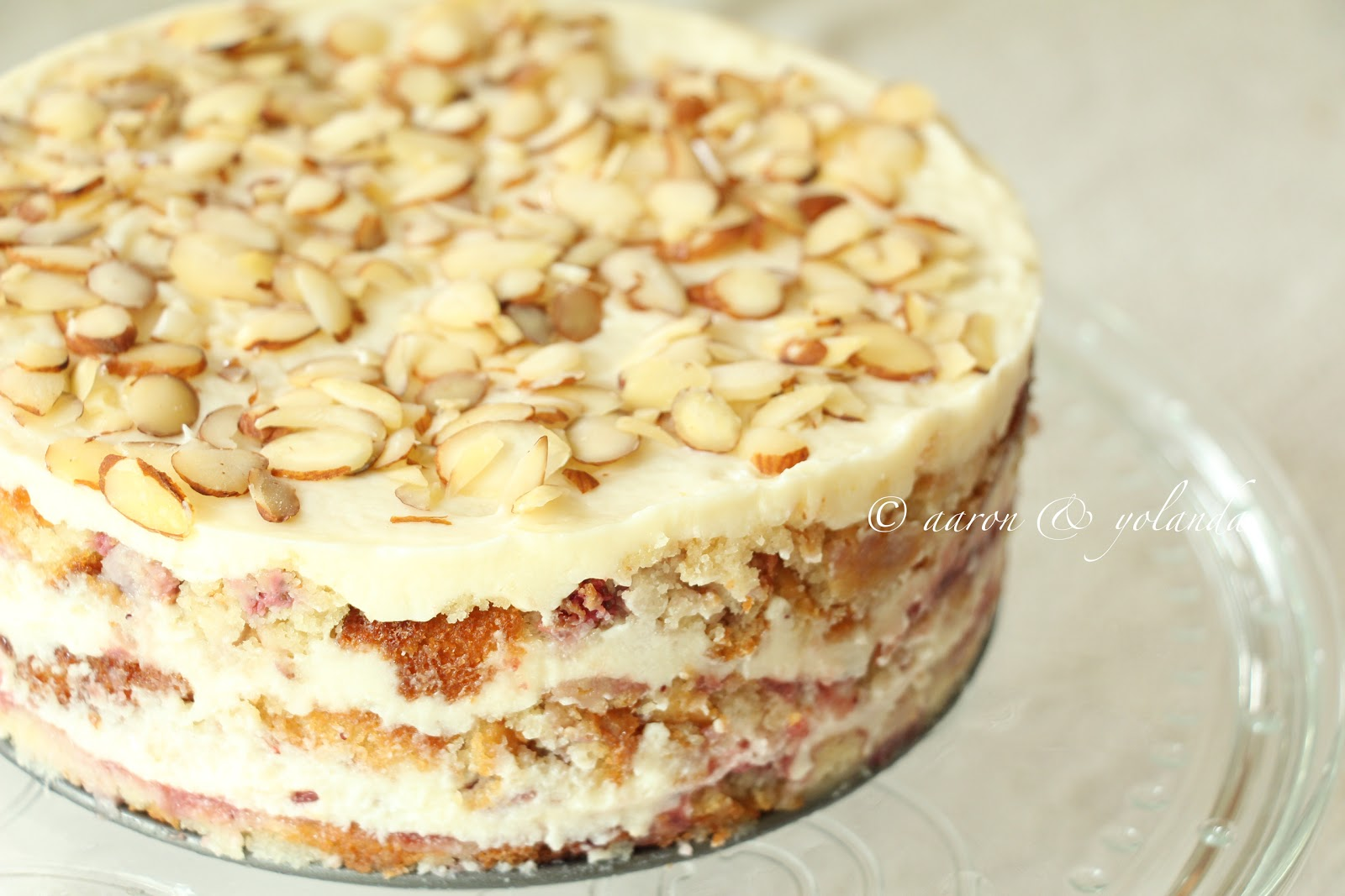 Inspired by Life: Strawberry Almond Layer Cake