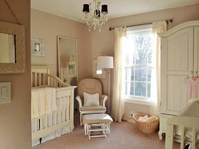 SuburbanSpunkDesign.com : Pretty and Peaceful Nursery for Baby Girl #2