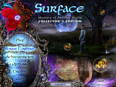 Surface: Mystery of Another World Collector's Edition Main Menu