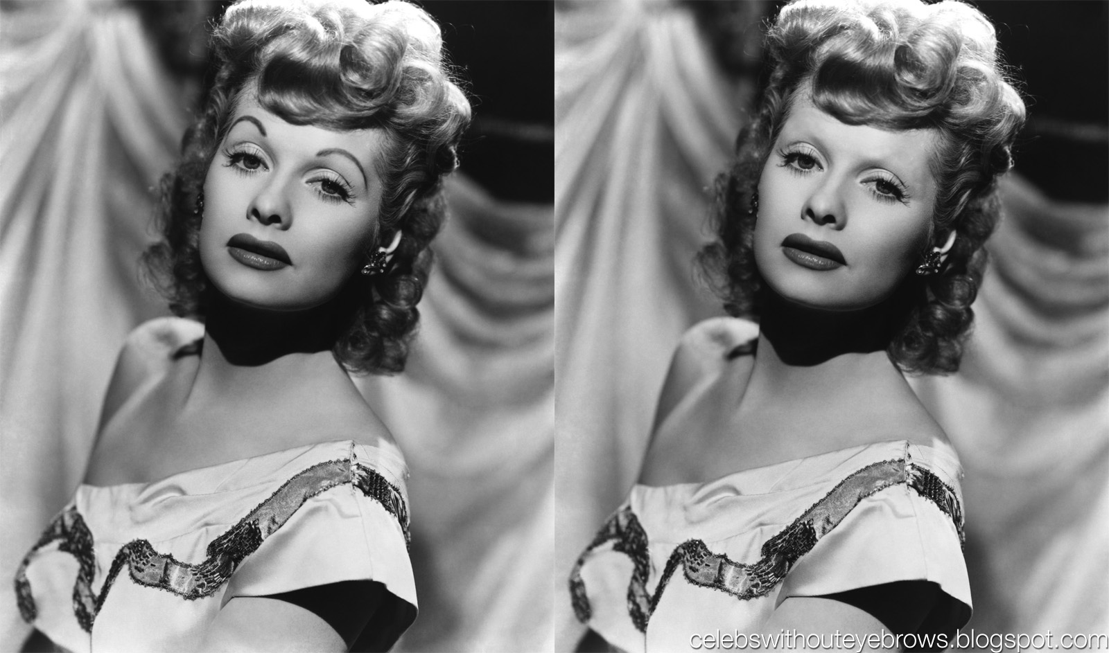 Celebs Without Eyebrows Lucille Ball