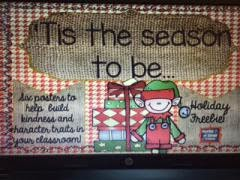 http://www.teacherspayteachers.com/Product/Holiday-Character-Traits-Poster-Set-Freebie-1529151