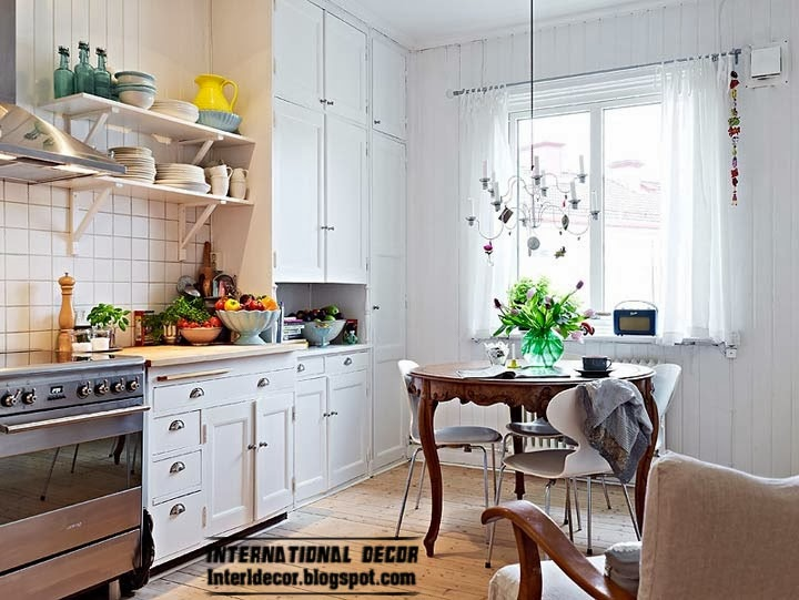 Scandinavian kitchen style and design, huge colsets