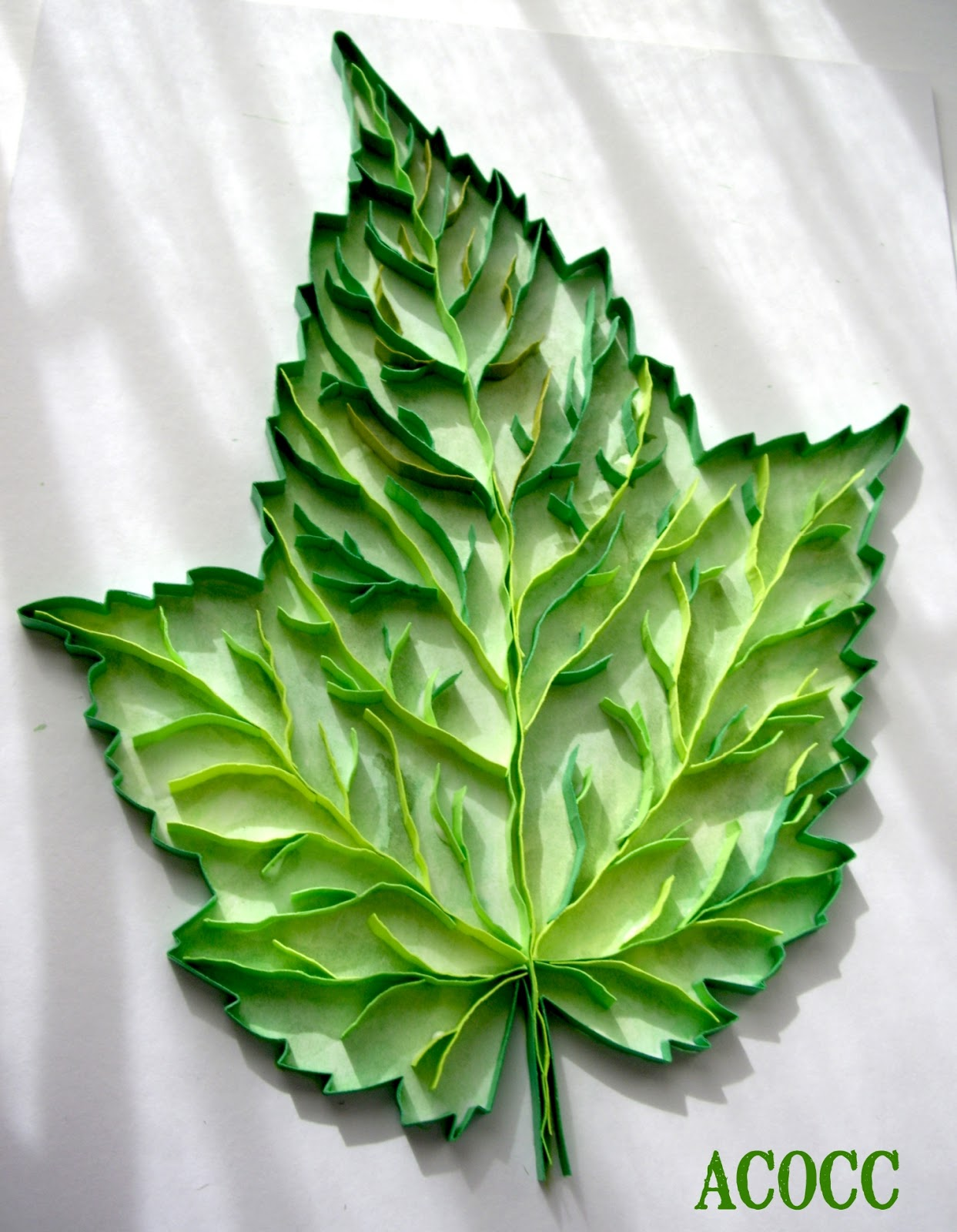 Paper Quilling Leaves