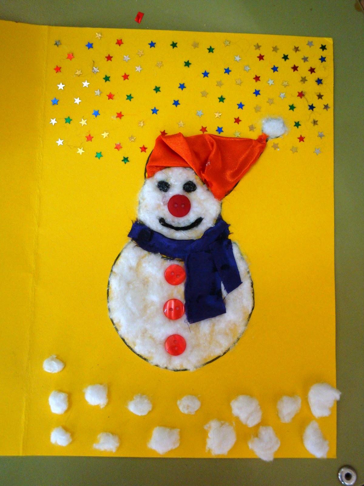 Maestra de infantil tarjetas de navidad hechas por ni os - Postales navidad hechas por ninos ...
