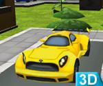 3d Sarı Araba Parket
