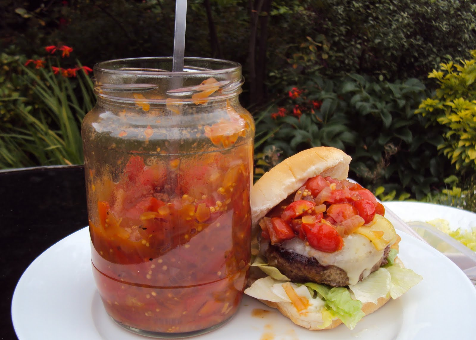how to make tomato relish for burgers