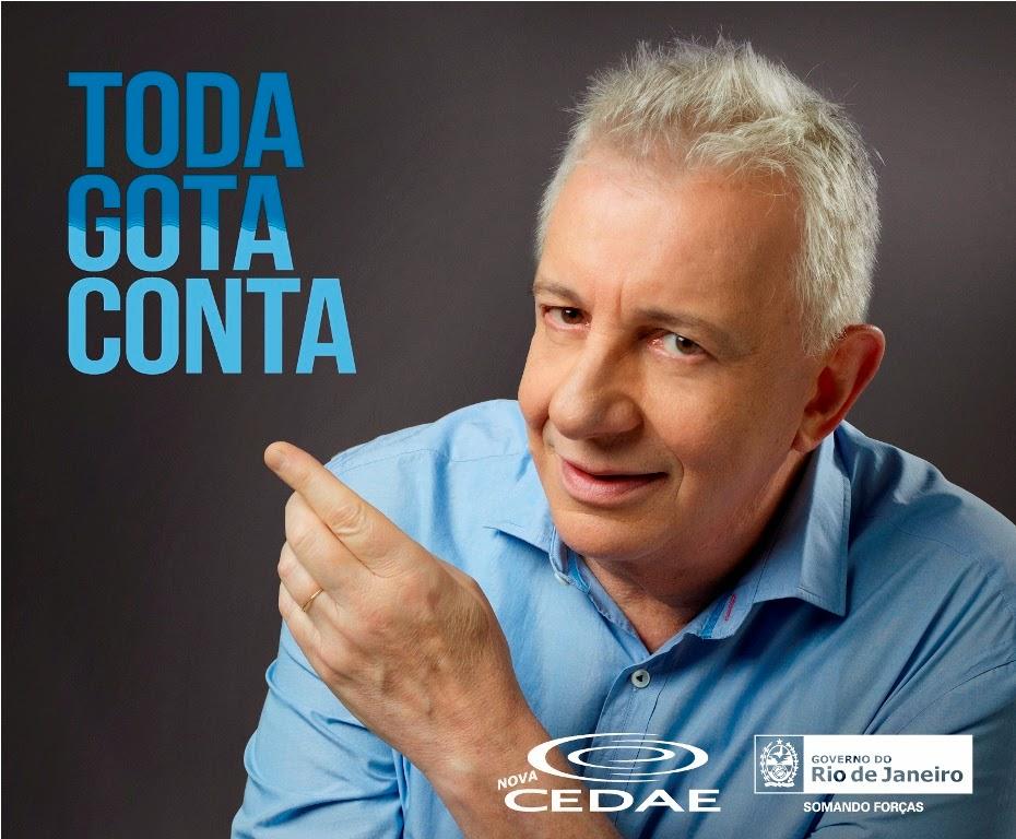 """Governo do Rio lança nova campanha para estimular uso inteligente da água - """"Toda gota conta! E a gente conta com você!"""""""