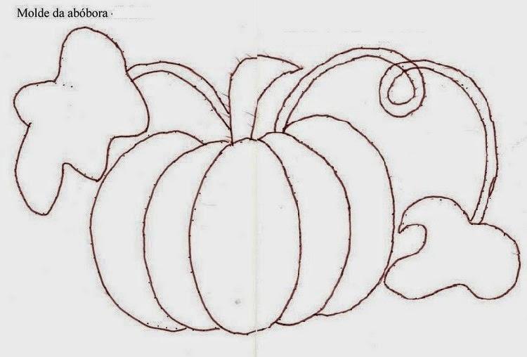 Moldes de maçã e abóbora para patch aplique