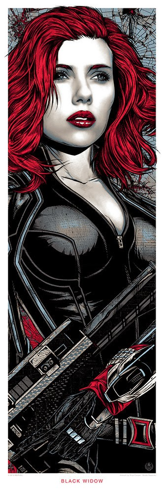 """Black Widow"" Marvel's Avengers: Age of Ultron Screen Print by Rhys Cooper"