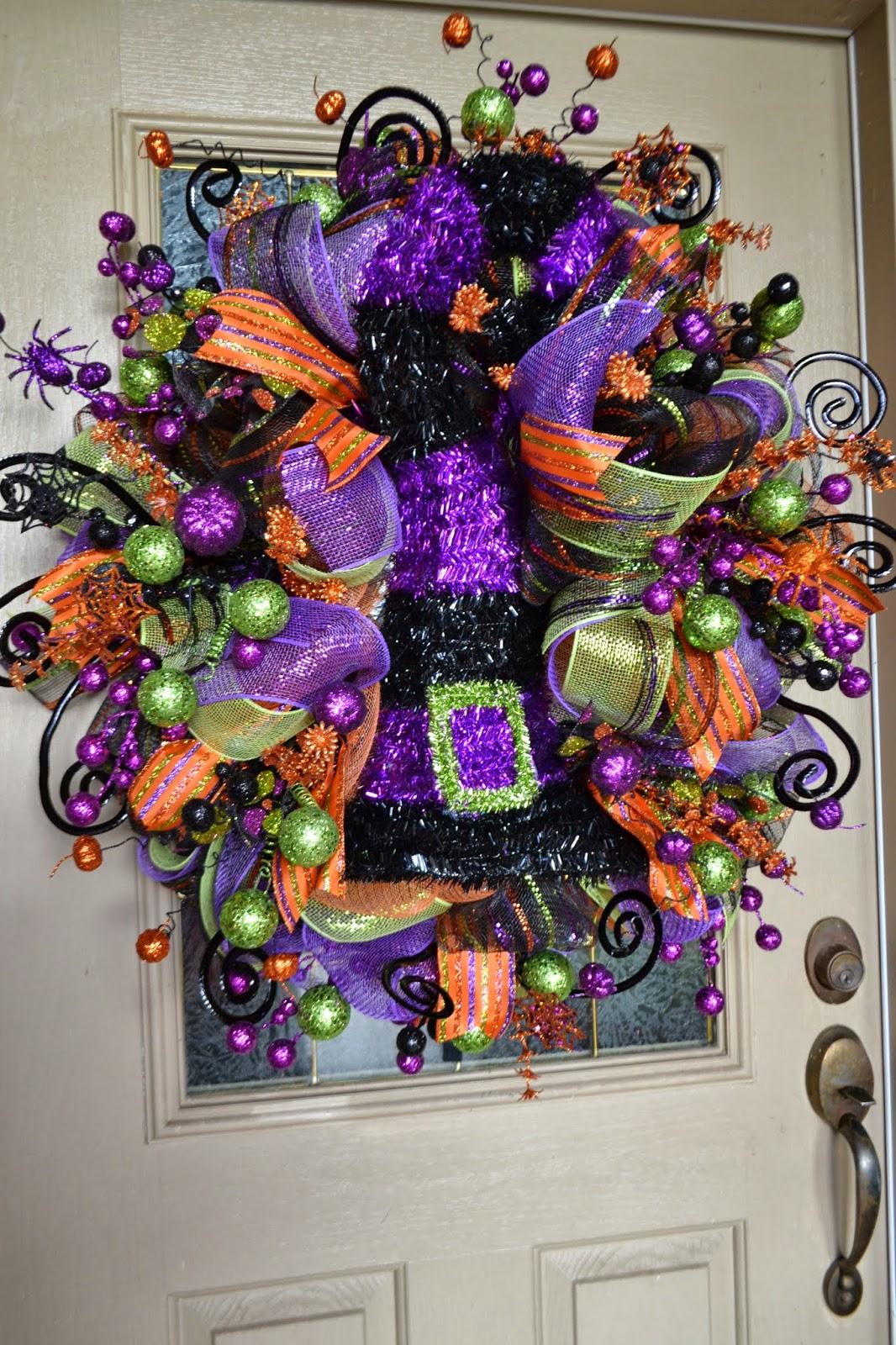 Kristen 39 S Creations Halloween Mesh Wreath