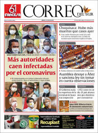 11/07/2020   BOLIVIA   UNA  PRIMERA PÁGINA DE LA PRENSA