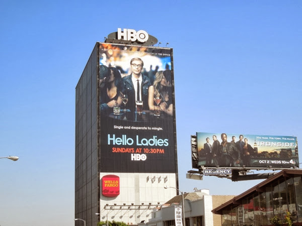 Giant Hello Ladies billboard