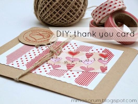 Tarjeta de agradecimiento con washi tape