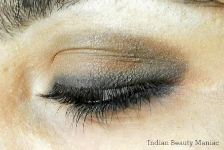 Brown eyeshadow with Kohl eye makeup
