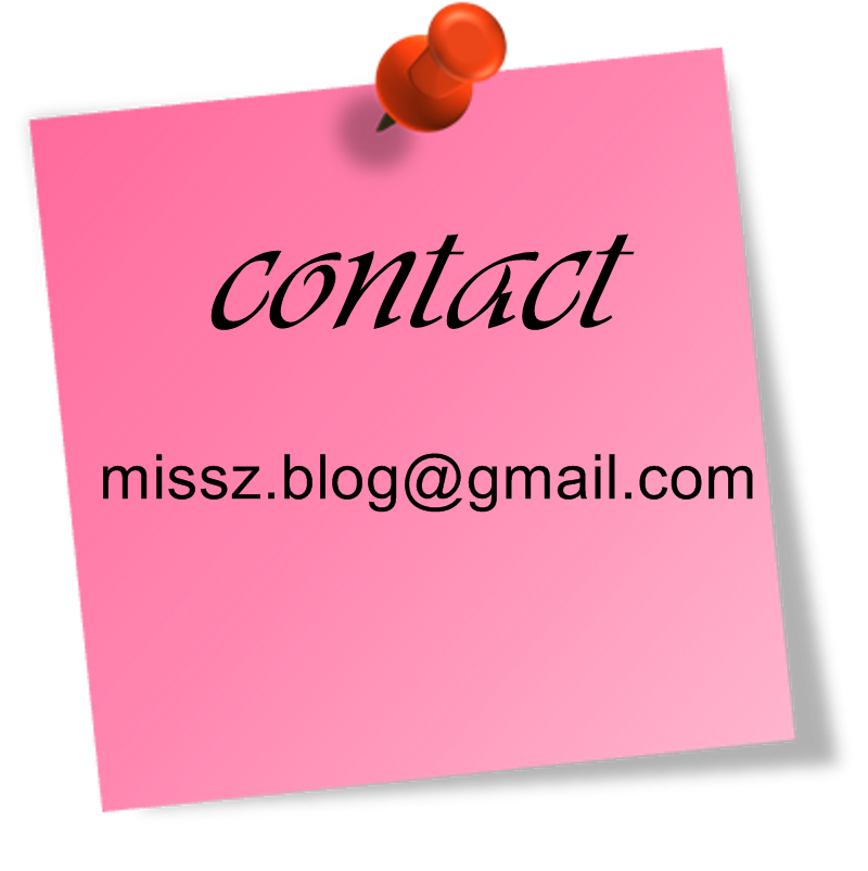 Contact: missz.blog@gmail.com