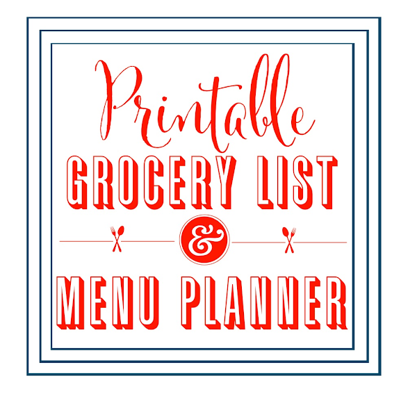 Printable Grocery List & Menu Planner @ Blissful Roots