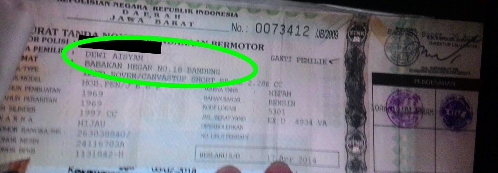 Biro Jasa Stnk Bintang Cara Balik Nama Stnkbpkb Kendaraan