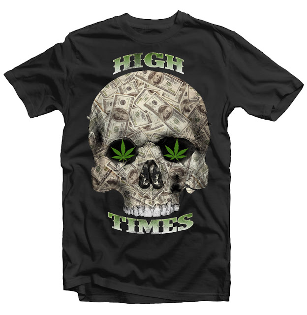 skull weed tshirt design