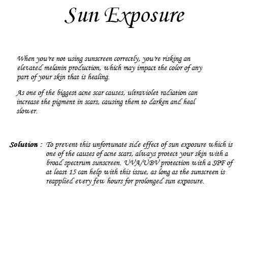 Acne from Sun - The Truth about it!