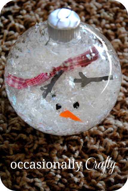Melted Snowman Ornament | Occasionally Crafty