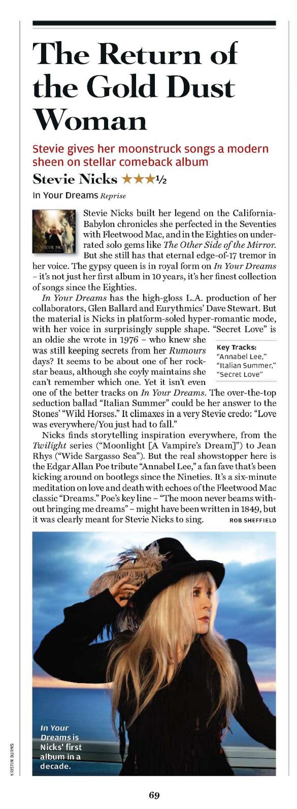 Fleetwood Mac News Stevie Nicks In Your Dreams