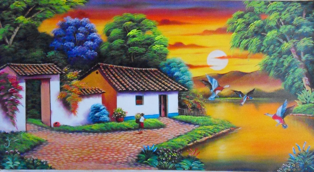 Cuadros modernos pinturas y dibujos nuevos paisajes - Los cuadros mas bonitos ...