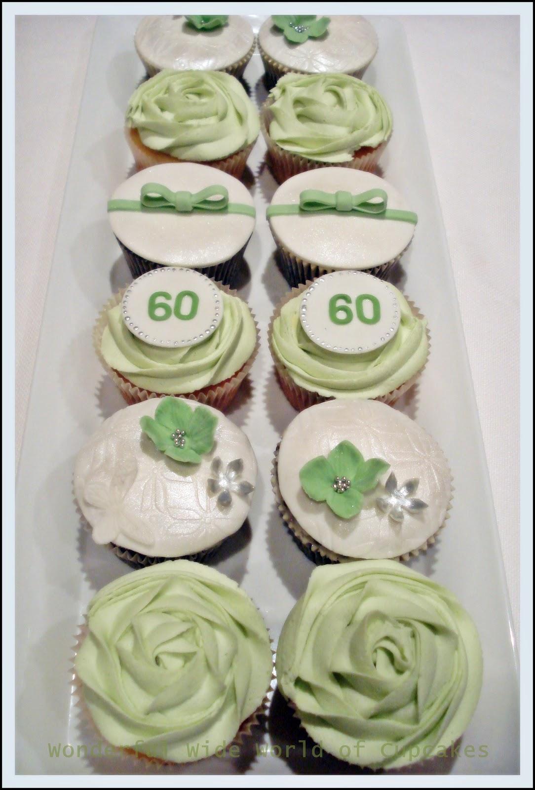 Wonderful World Of Cupcakes 60th Birthday Cupcakes