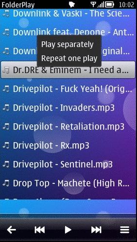 Folder player symbian