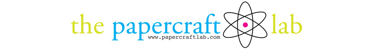 Logo for The Papercraft Lab - custom scrapbooking service