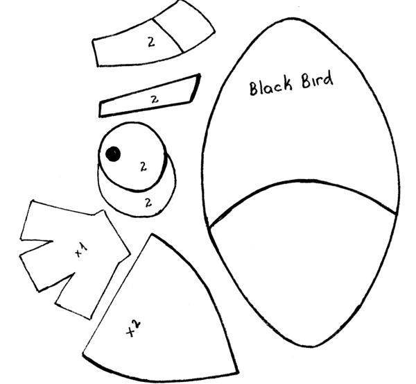 Hilos de Aralena: Black Bird. Como hacer los muñecos de Angry Bird 4.