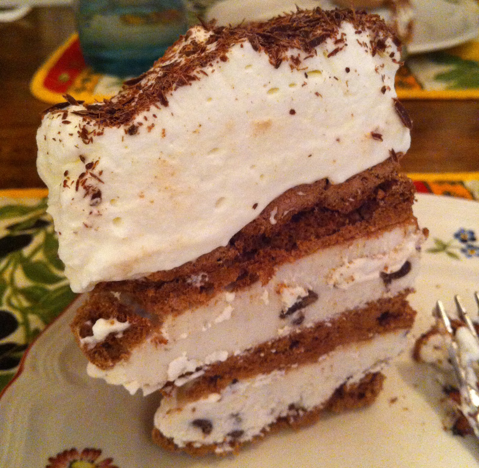 Sybil's Spoon: Chocolate Meringue and Mint Chip Ice Cream Cake