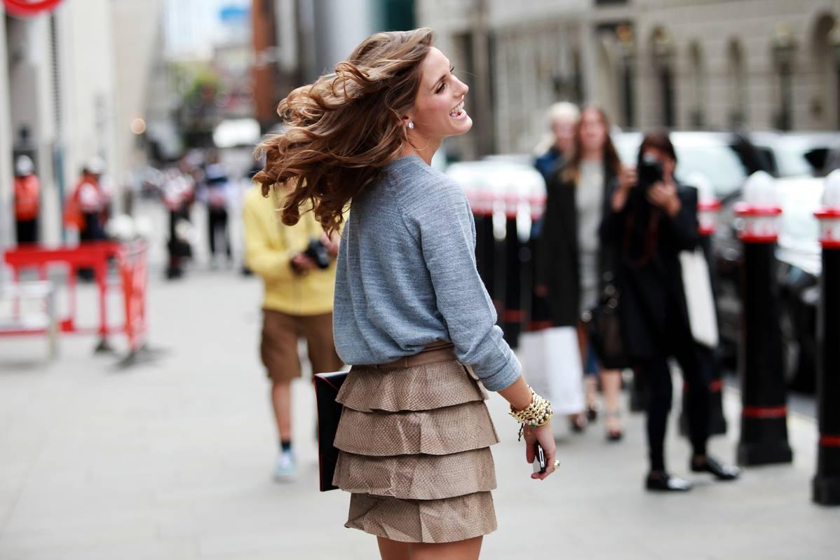Image result for street style ruffle skirt