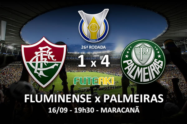 Veja o resumo da partida com os gols e os melhores momentos de Fluminense 1x4 Palmeiras pela 26ª rodada do Brasileirão 2015.