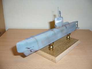 German Type XXIII submarine of trumpeter scale 1:144