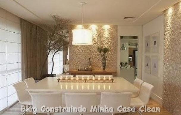 Sala De Jantar Mesa Quadrada ~ Construindo Minha Casa Clean Como Decorar a Sala de Jantar?