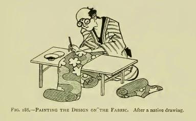 fabrication du tissu japonais